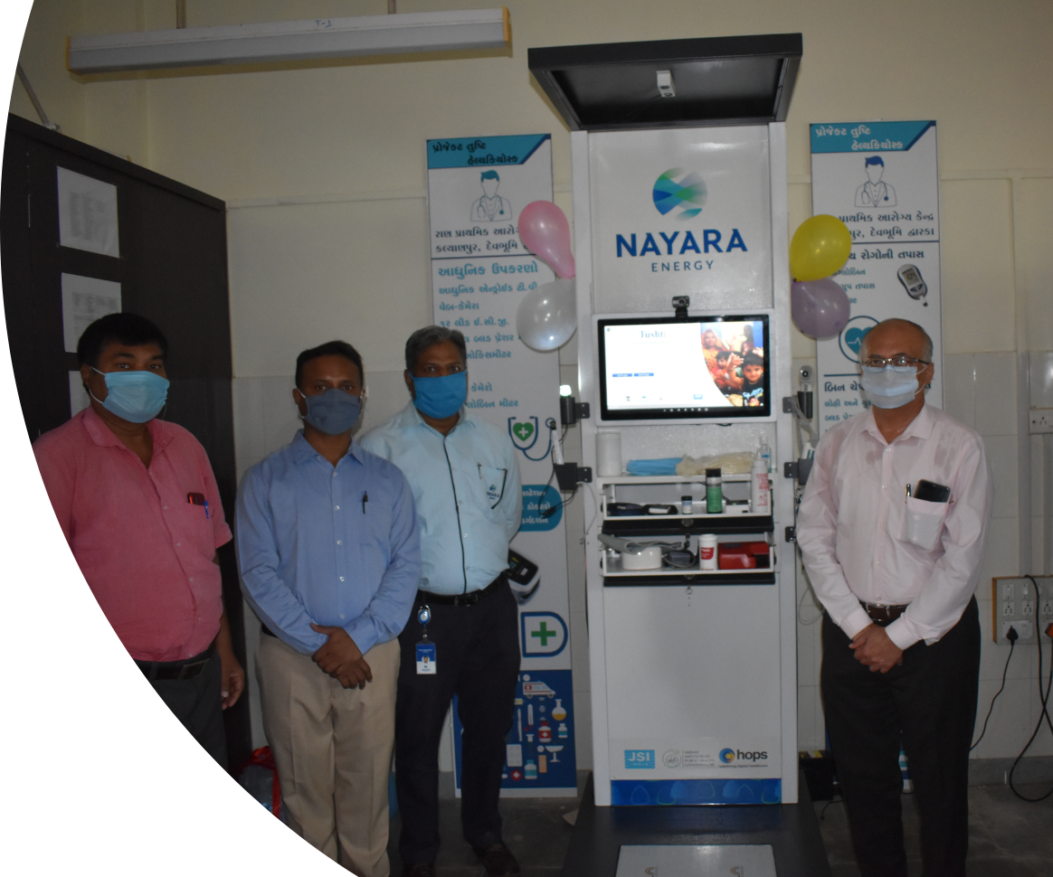 Strengthening Remote Health Centers in villages of Dwarka with Point of Care – Health Kiosks